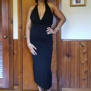 BCBG black halter dress